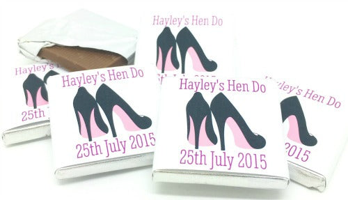 Stilleto Personalised Chocolate Hen Party Favours