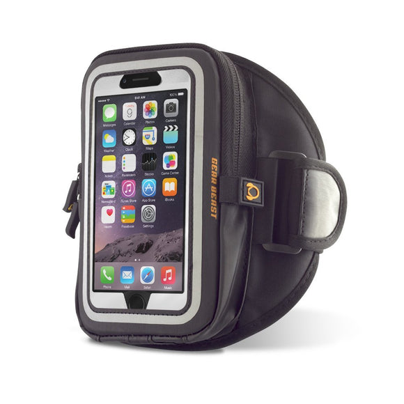 Gear Beast GearWallet iPhone 7 Sports Armband for Running, Workout, Compatible w/ Otterbox Type Cases, Large Capacity Storage Pocket, 4 Card Slots, Keys, Earbuds Also fits Phone 6S, 6 & More