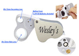 Wesley's Jewelers Loupe  30X 60X LED Illuminated with EVA Carrying Case, Loupe Magnifier for Mineral, Gems, Gardening, Hobbies, Industrial