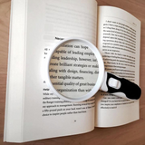 Wesley's LED Magnifying Glass for Reading,  2 Lens set for Seniors, Macular Degeneration 10x 5x Magnification