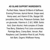 Adrenal Gland Support Lotion 8 oz. Bottle | No-GMO | No Soy