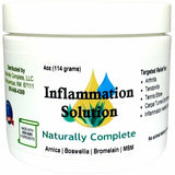 Inflammation Solution 4 oz. Jar — For Your Back, Neck, Knee, Hand, Shoulder, Foot, etc. Safe to use with Arthritis Gloves & Braces, Back Pain Massagers, etc.— Arnica, Vitamin B6 & MSM