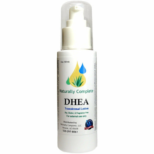 Naturally Complete DHEA 4 oz. Bottle | Non-GMO | Soy-Free | Unscented | Made in USA - Naturally Complete