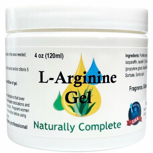 Naturally Complete L-Arginine Gel 4 oz. Jar | Non-GMO | Unscented | Made in USA - Naturally Complete