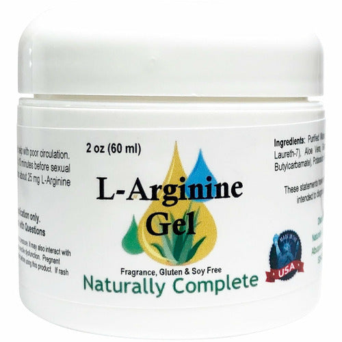 Naturally Complete L-Arginine Gel 2 oz. Jar | Non-GMO | Unscented | Made in USA - Naturally Complete