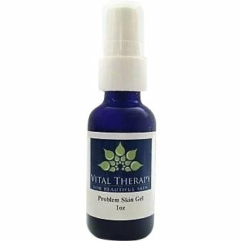 Vital Therapy Problem Skin Gel Targets Hormonal Breakouts 1 oz. Bottle | Made In The USA - Naturally Complete