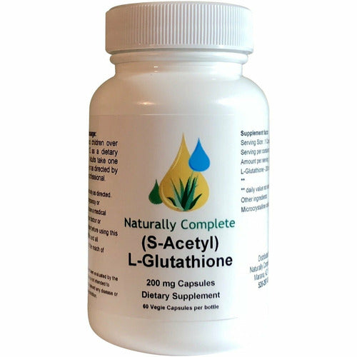 Naturally Complete (S-Acetyl) L-Glutathione 200 mg | 60 Vegan | Kosher Caps | Made In The USA - Naturally Complete
