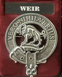Brushed Pewter Clan Crest Badges (Clans G-Z)