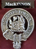 Brushed Pewter Clan Crest Badges (Clans MAC)