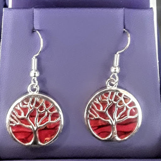 Heather Gem Tree of Life Earrings