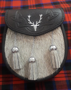 Semi Dress Stag Crest Sporran