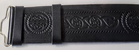 Celtic Serpent Hide Kilt Belt