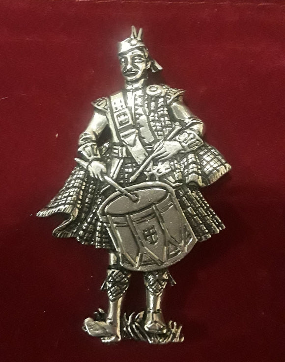 Scottish Drummer Brooch