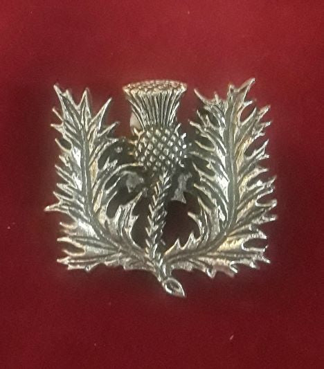 8011 ~ Small Thistle Cap Badge