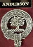 Brushed Pewter Clan Crest Badges (Clans A - F)