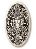 Celtic Porcelain OVAL Shaped Necklace