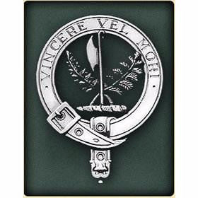 Sterling Silver Clan Crest Badges