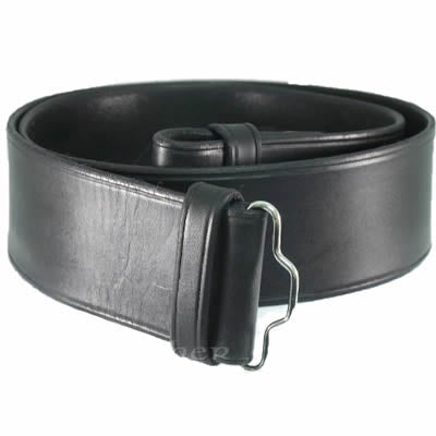 Kilt Belt - Plain Black Hide