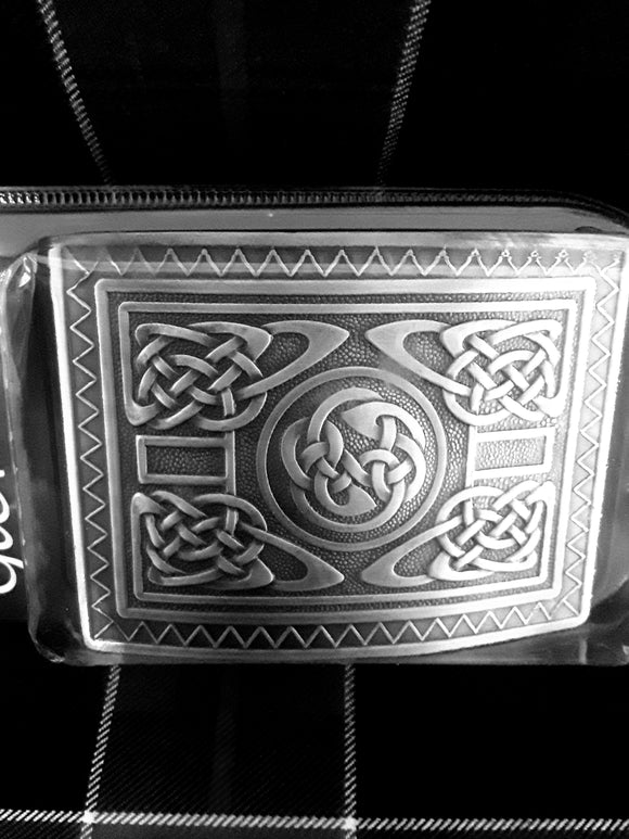 Belt Buckle - Silver Antique Finish