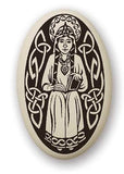 Celtic Porcelain Necklace with Patron Saints