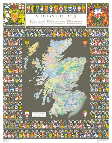 Scotland of Old Map (Paper)