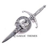 Brushed Pewter Clan Crest Kilt Pins (Clans A - F)