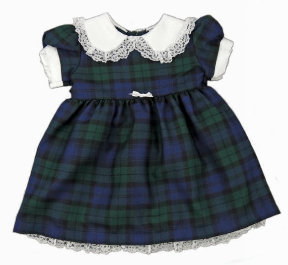 Tartan Dress with Frill Collar & Petticoat
