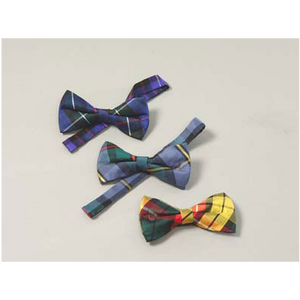 Spring Weight Black Band Bowties (Tartans MAC2)