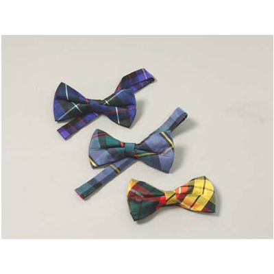 Spring Weight Black Band Bowties (Tartans MAC1)