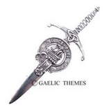 Brushed Pewter Clan Crest Kilt Pins