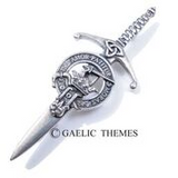Brushed Pewter Clan Crest Kilt Pins (Clans G-N)