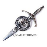 Brushed Pewter Clan Crest Kilt Pins (Clans MAC)