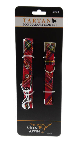 Tartan Dog Collar & Lead Set
