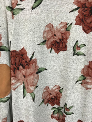 Floral Open Duster Cardigan