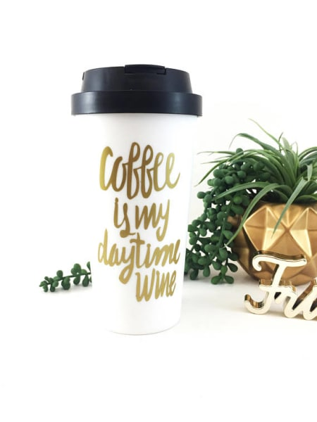 Coffee Is My Daytime Wine Travel Mug