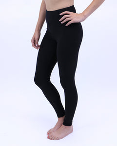 Cotton blend basic leggings