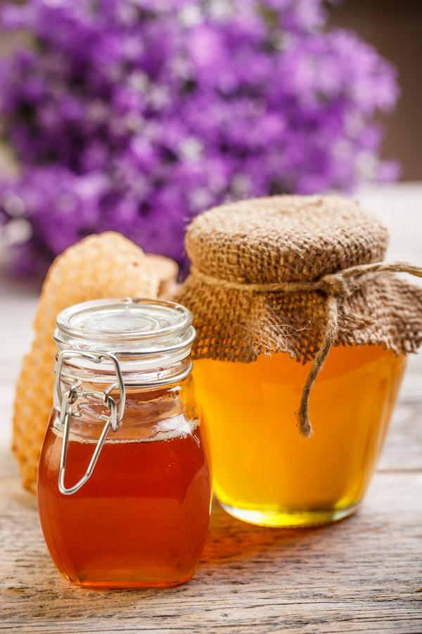 Two jars of raw local honey