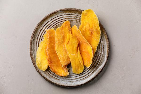 Dried mango snack for toddlers