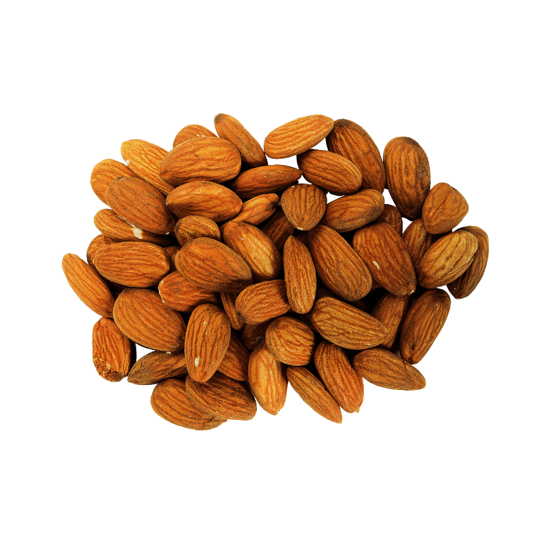 Pile of Dry Roasted Almonds.