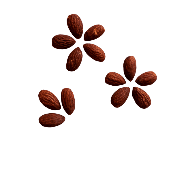 Almonds Tamari in flower pattern.