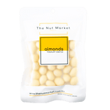 Yoghurt Coated Almonds in 200g Nut Market Packet.