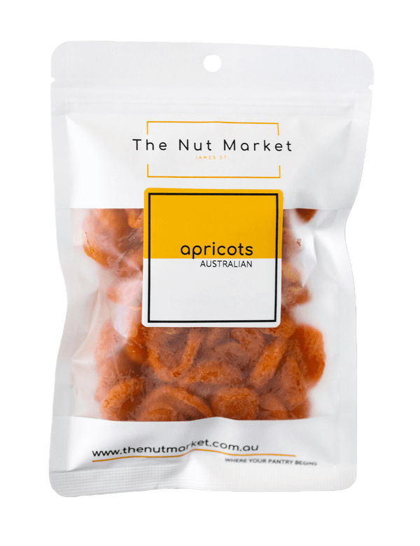 Dried Apricots Australian in 200g Nut Market Bag.
