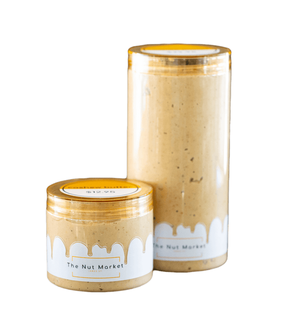 Cashew Butter in 300g and 850g Nut Market Jars.