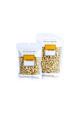 Raw Cashews in 200g and 500g Nut Market bags.