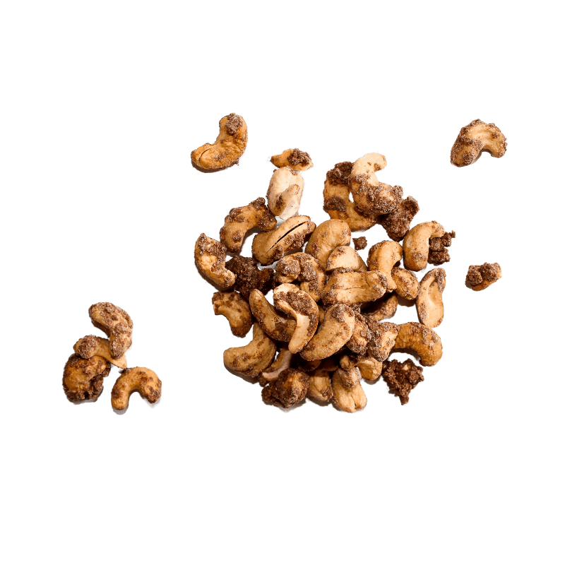 Cluster of Cinnamon Roasted Cashews.