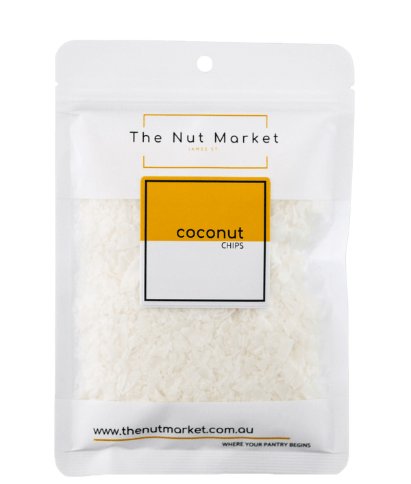 Coconut Flakes in 100g Nut Market Bag.