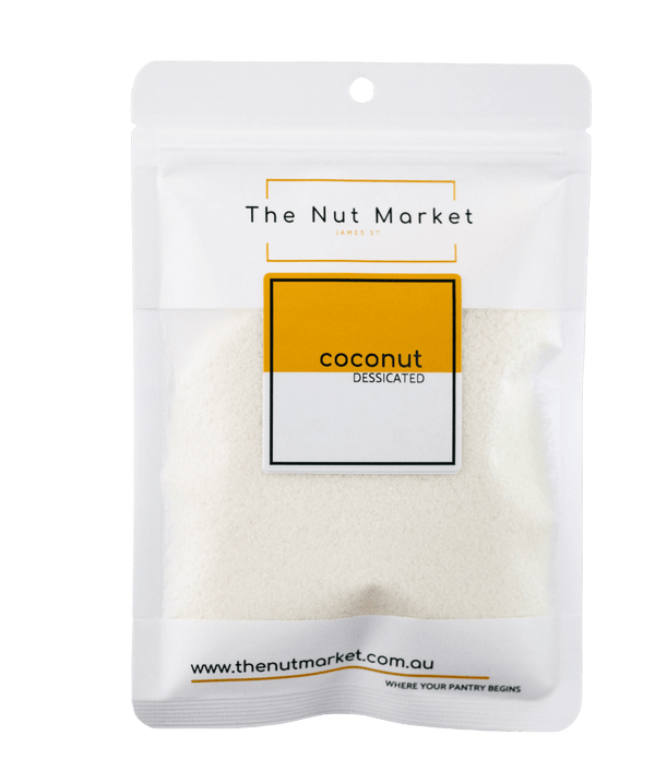 Desiccated Coconut in 100g Nut Market bag.