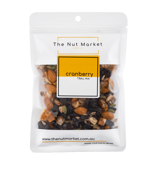Cranberry Trail Mix in 200g Nut Market bag.
