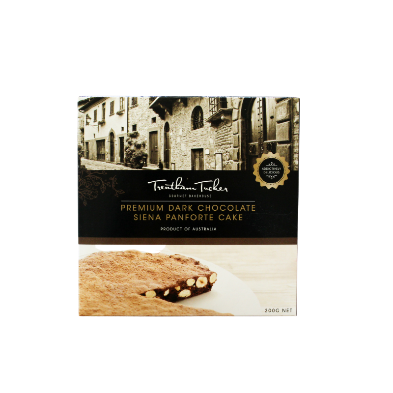 Premium Dark Chocolate Siena Panforte Cake in Trentham Tucker Box.