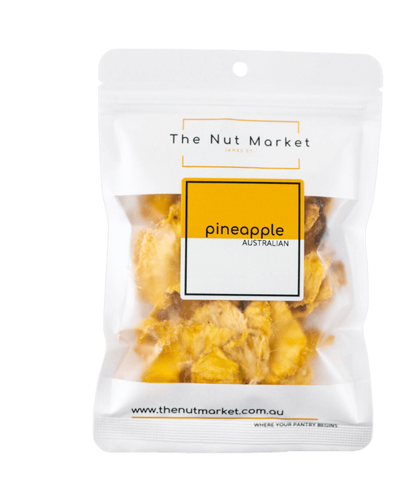 Dried Pineapple in 100g Nut Market Bag.